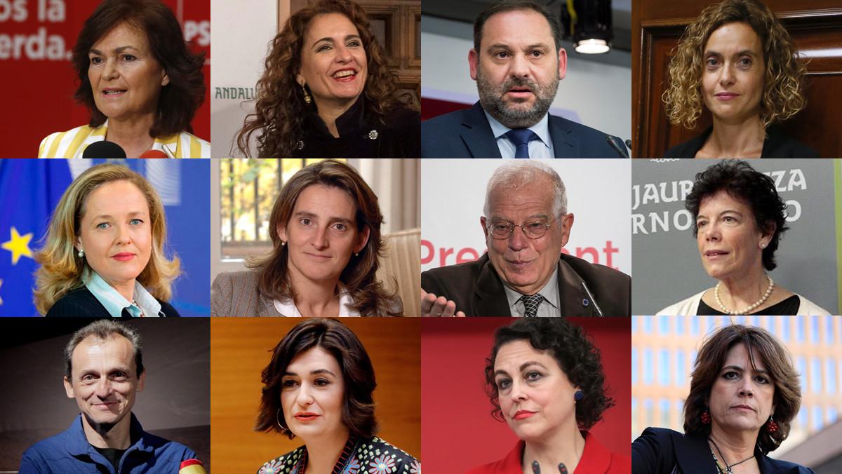 12 de los ministros del nuevo Gobierno de Pedro Sánchez.