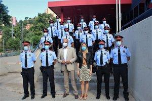 Tretze mossos d'esquadra s'afegeixen a la plantilla de Santa Coloma de Gramenet