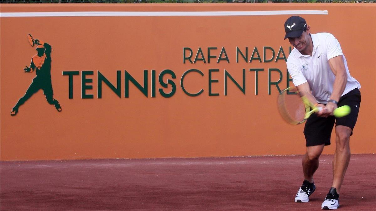 Nadal, en la inauguración del Rafa Nadal Tennis Centre en un 'resort' de Isla Mujeres (México).