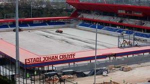 El nombre de Johan Cruyff, en el nuevo Mini Estadi.