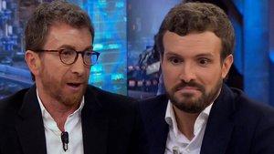 """Tensión entre Pablo Motos y Casado por Vox: """"¿Por qué no contestas mi pregunta?"""""""
