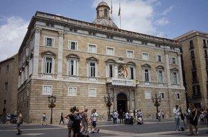 El Palau de la Generalitat, este martes.