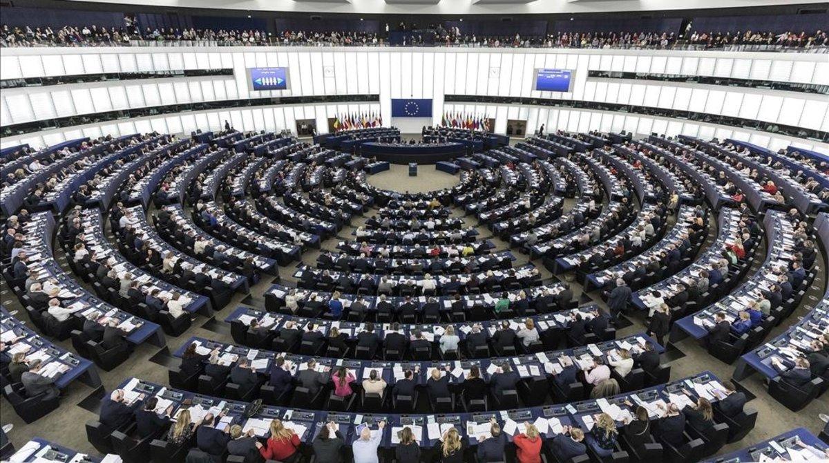 El Parlamento Europeo, durante la sesión plenaria del pasado 27 de marzo.