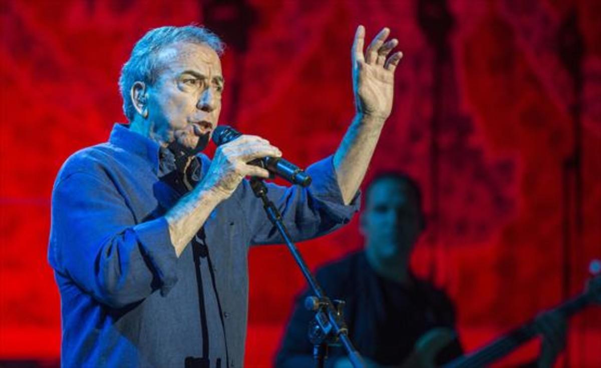 Perales, el pasado miércoles, durante su concierto en el Palau.