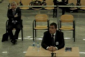 El exdirector general de los Mossos Pere Soler durante su declaración en el juicio que se celebra en la Audiencia Nacional.