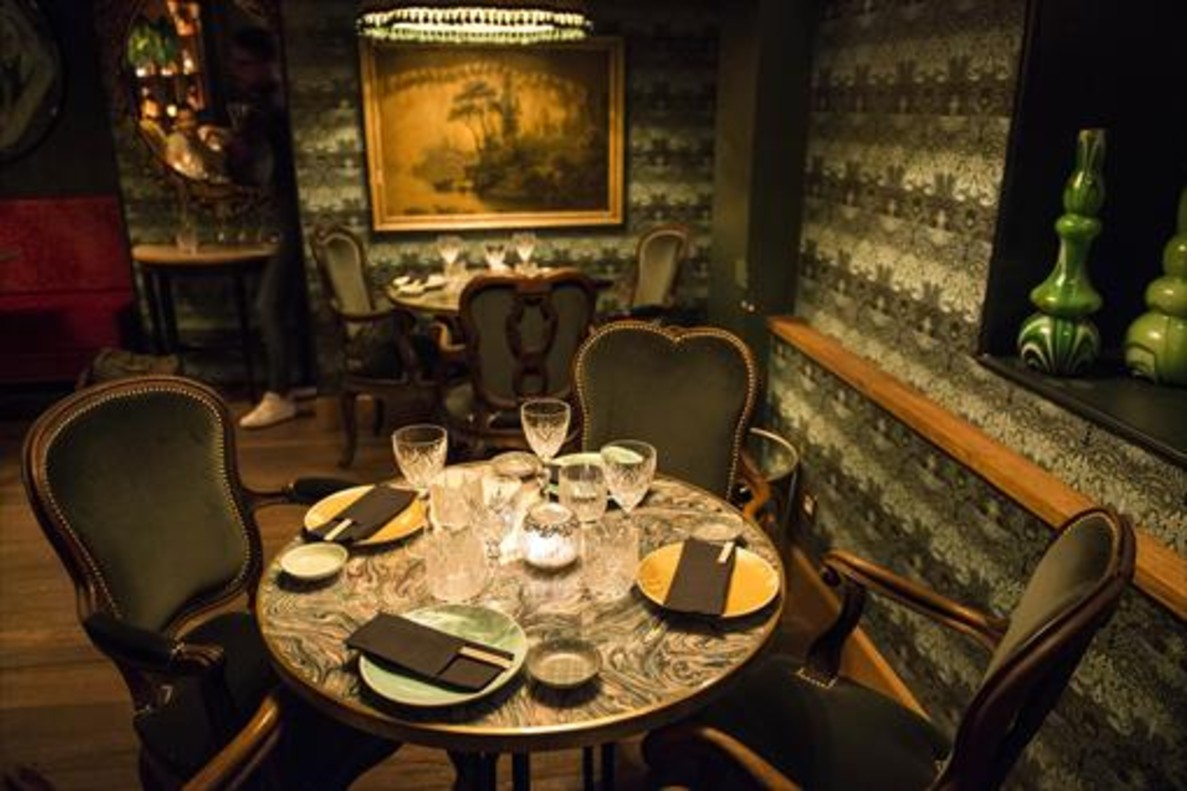 La sala del restaurante La Plata.
