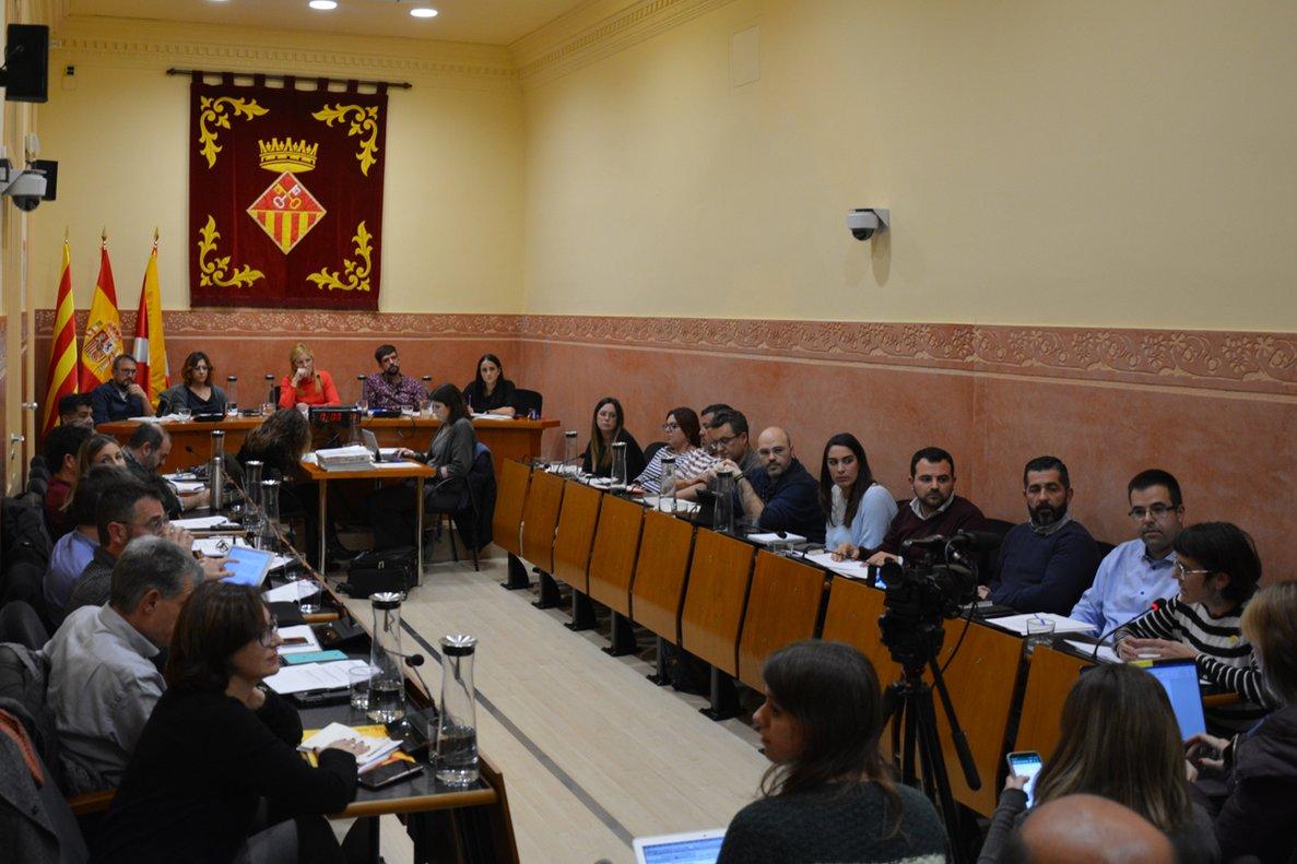 El Pleno ordinario del mes de noviembre, celebrado el jueves 28 de noviembre.