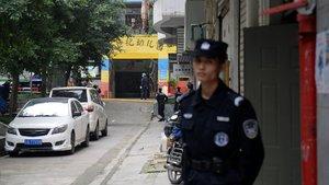 La policía china abatió al conductor.