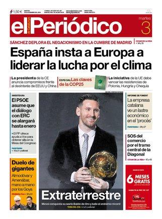 Prensa de hoy: Las portadas de los periódicos del martes 3 de diciembre del 2019