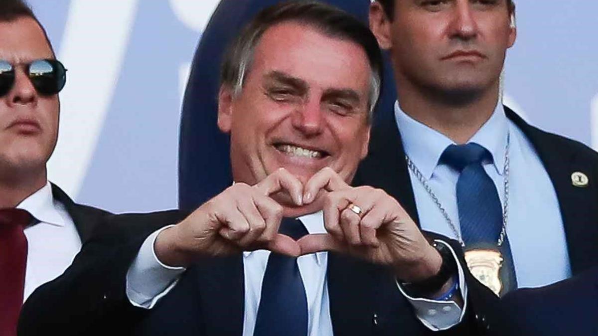 El presidente de Brasil, Jair Bolsonaro, hace justo un año.