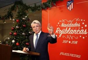 El presidente del Atlético, Enrique Cerezo.