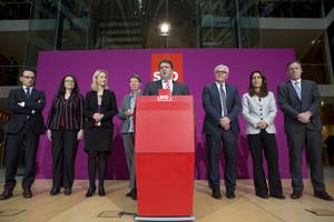 El presidente del SPD, ministro de Economía en la gran coalición de Merkel