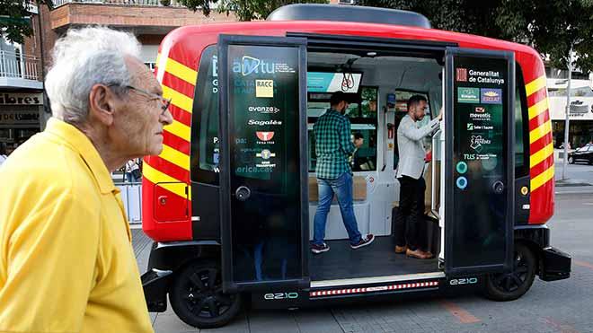 El primer autobús autónomo de Catalunya circula en Terrassa y 7 localidades durante dos meses y el público lo podrá probar.