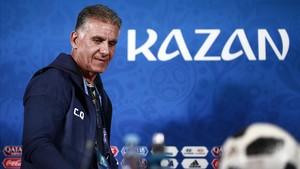 Queiroz, en la conferencia de prensa que ofreció en el Kazán Arena.