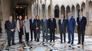 Reunión del consejo de Fira de Barcelona con el presidente de la Generalitat, Quim Torra.