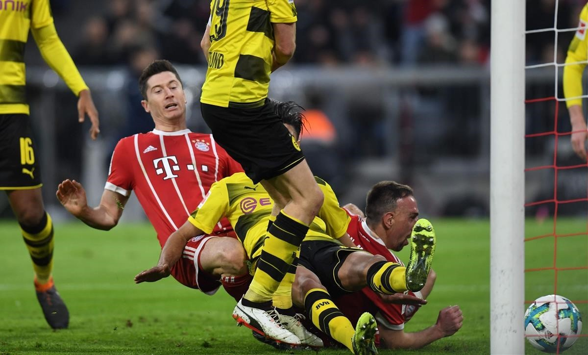 Robert Lewandowski, del Bayern de Múnich, en la goleada ante el Dortmund.