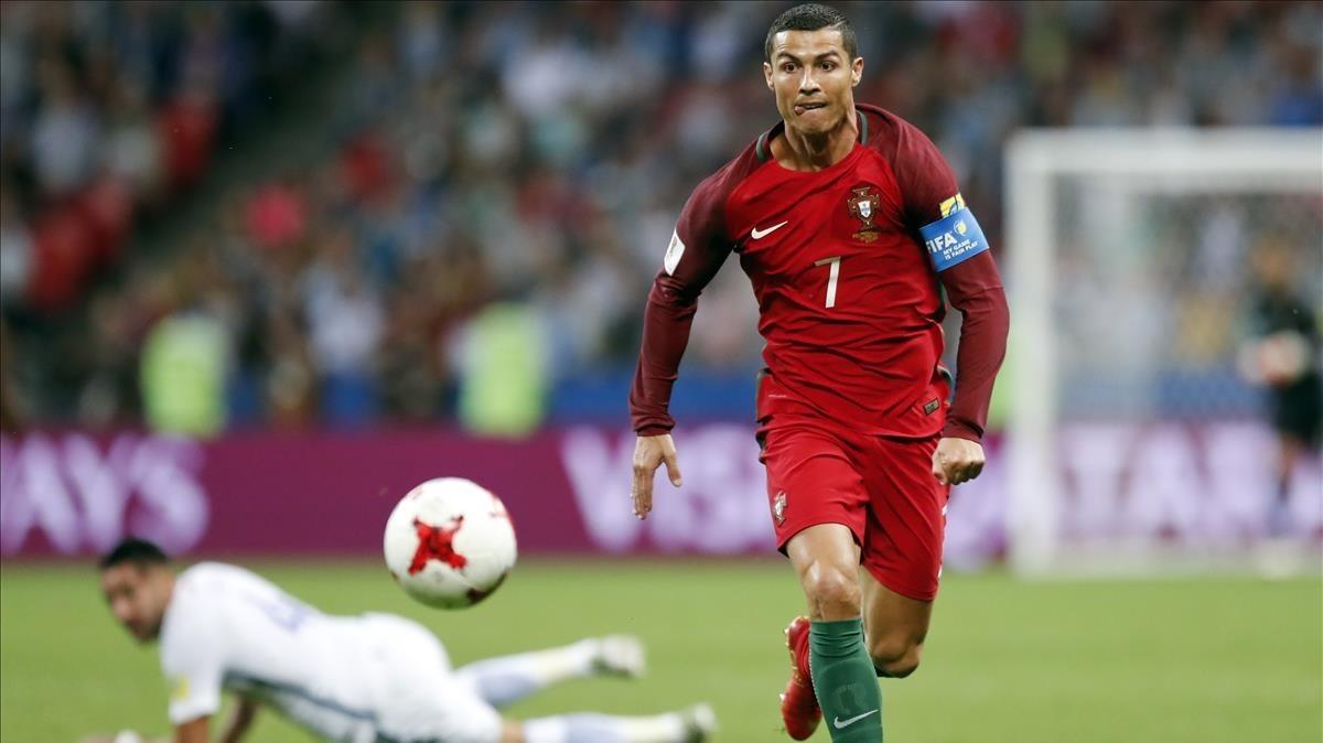 L'agonia de Cristiano Ronaldo contra Espanya