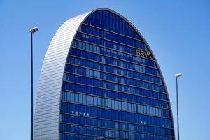 Sede del banco del BBVA en Madrid.
