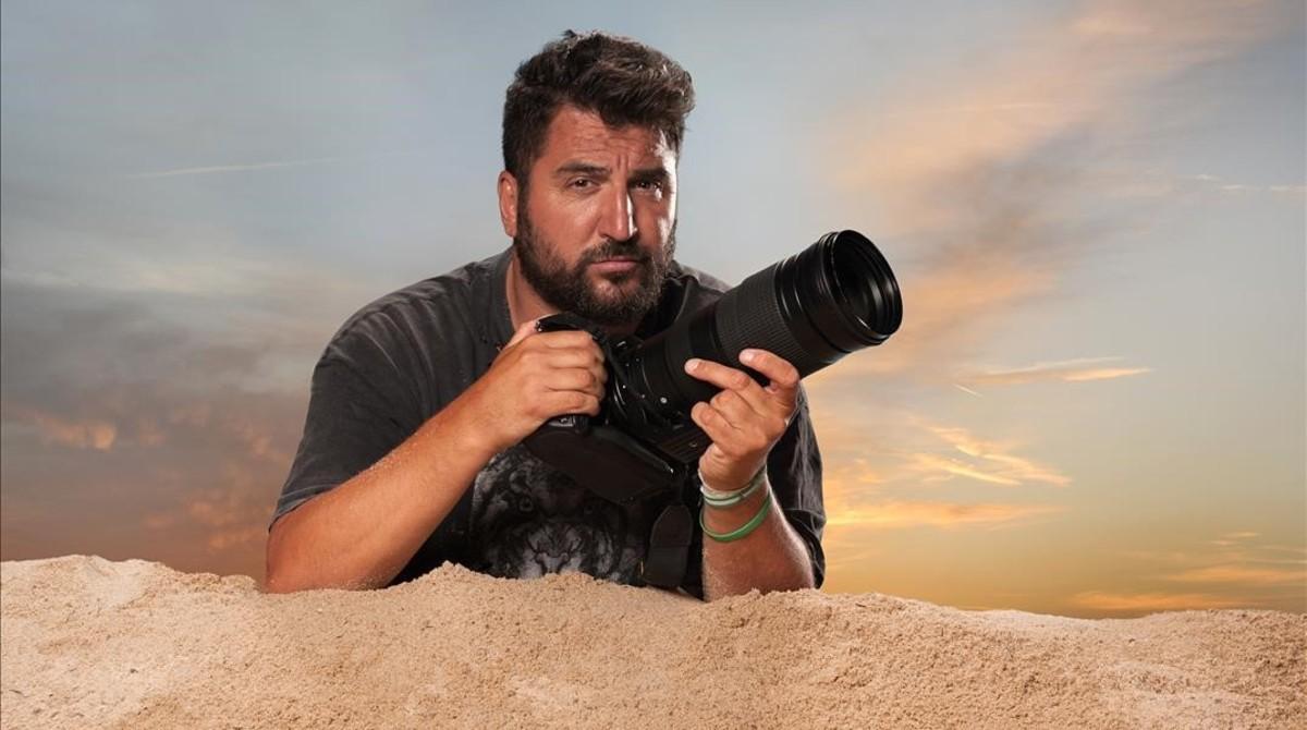 El paparazi Sergio Garrido, protagonista del programa Misión exclusiva (Cuatro).