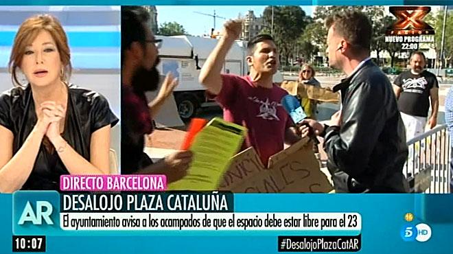 Ana Rosa Quintana, increpada en directo (Tele 5).