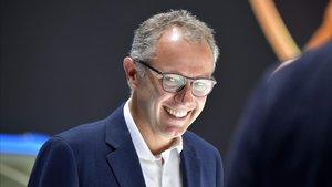Stefano Domenicali, en el 2019, en un acto como CEO de Lamborghini.