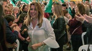 Susana Díaz, en un acto de campaña, en Alcalá de Guadaíra (Sevilla), el pasado 16 de noviembre.