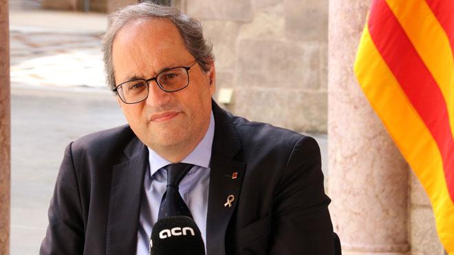 El president, Quim Torra, dice que trasladará la mesa de negociación en Europa si Madrid no pacta la autodeterminación.