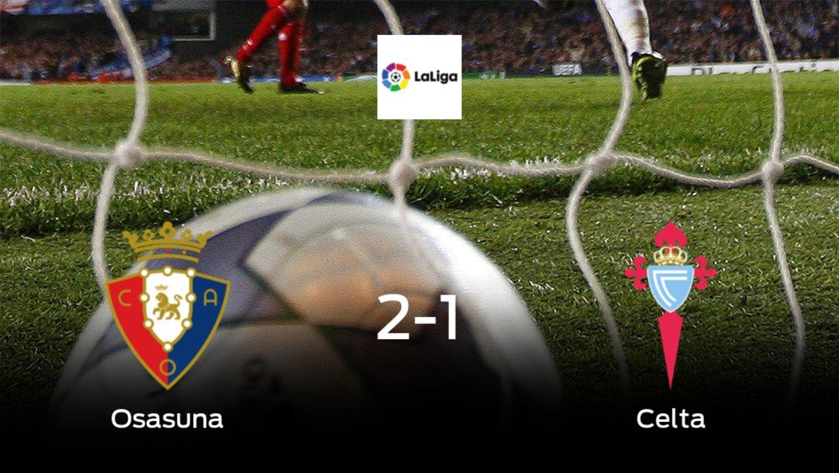 Triunfo de Osasuna por 2-1 ante el Celta