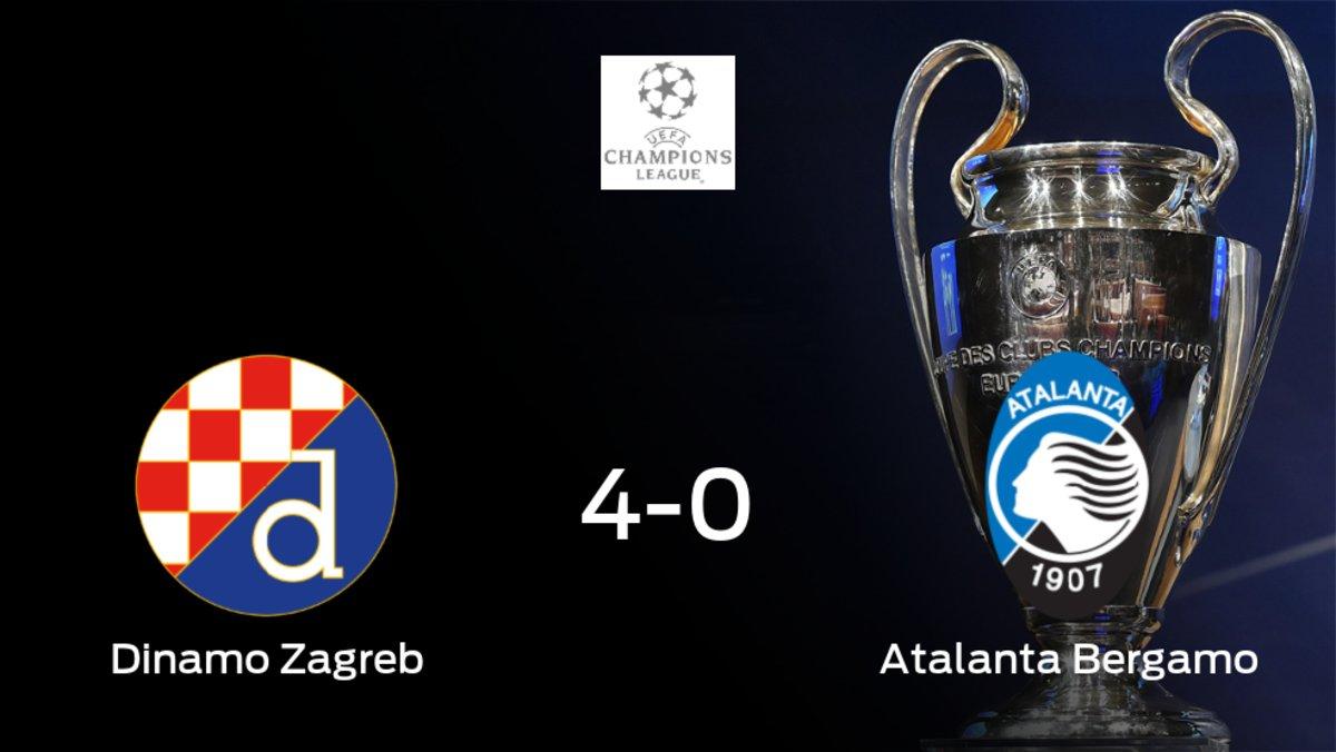 Triunfo para el Dinamo Zagreb tras golear 4-0 al Atalanta