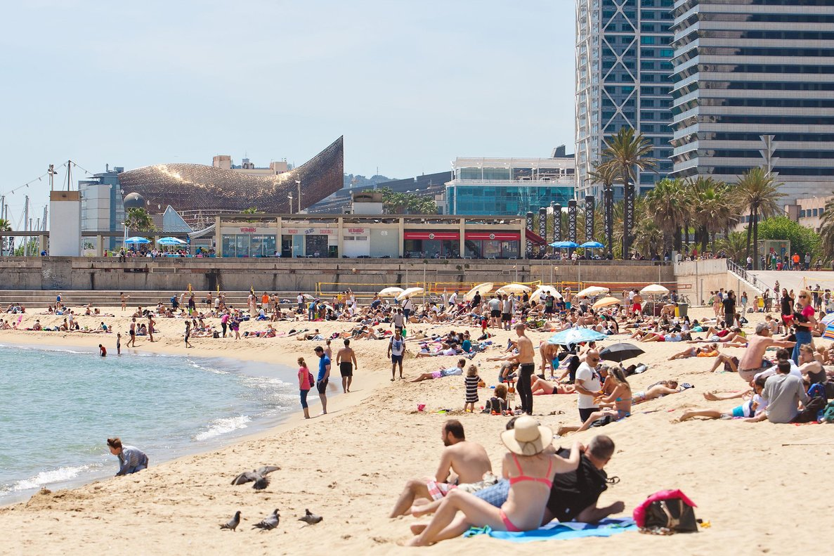 Imagen de la playa de Barcelona