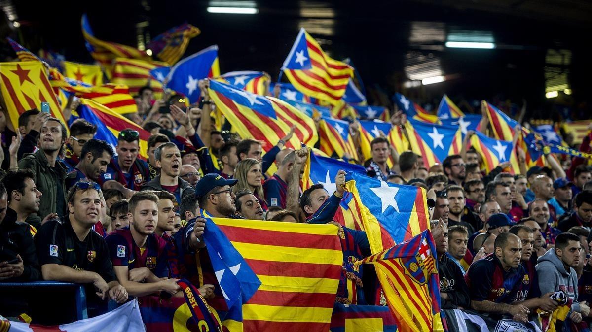 Una imagen de la final del 2016 en el Calderón entre el Barça y el Sevilla.