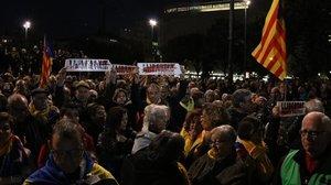 El sobiranisme inaugura el cicle de protestes contra el judici del procés