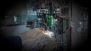 La uci del Hospital Clínic de Barcelona, la semana pasada.