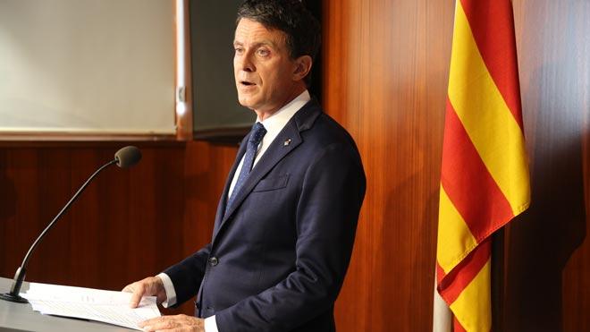 Valls dispara contra Cs per «pactar amb reaccionaris» i reafirma el seu aval a Colau