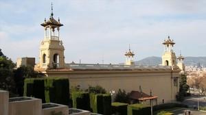 Vista exterior del Palau Victòria Eugènia de Montjuïc.