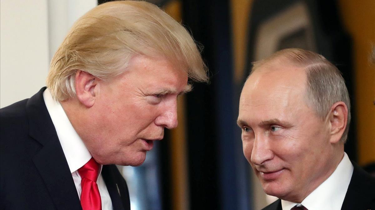 Los presidentes Trump y Putin, protagonistas del escándalo de las supuestas interferencias de Rusia en las elecciones presidenciales de EEUU.