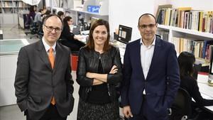 De izquierda a derecha, Pere Tura, Natalia Garcia y Carles Subirats.