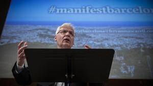 Mascarell, durante su conferencia en el Ateneu Barcelonès, este martes.