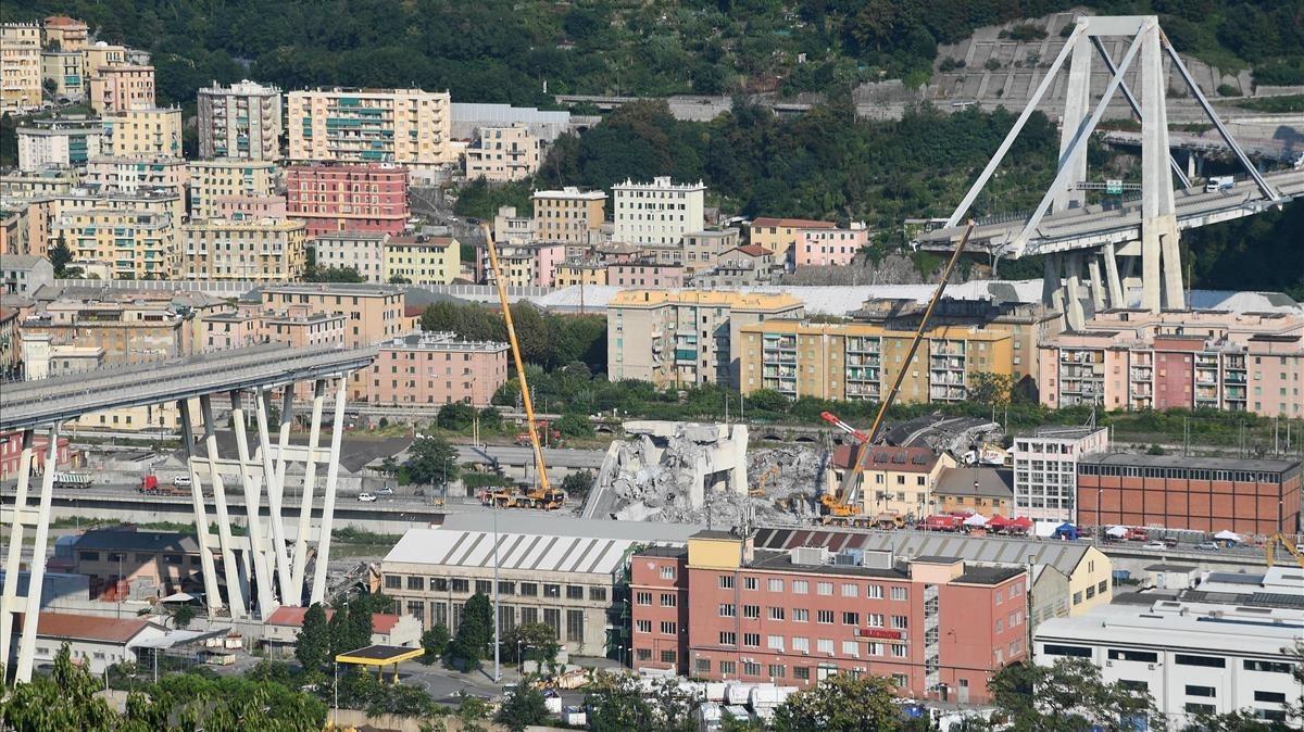 El puente Morandi.