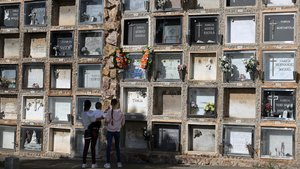 Una imagen del cementerio de Montjuïc, en Barcelona.