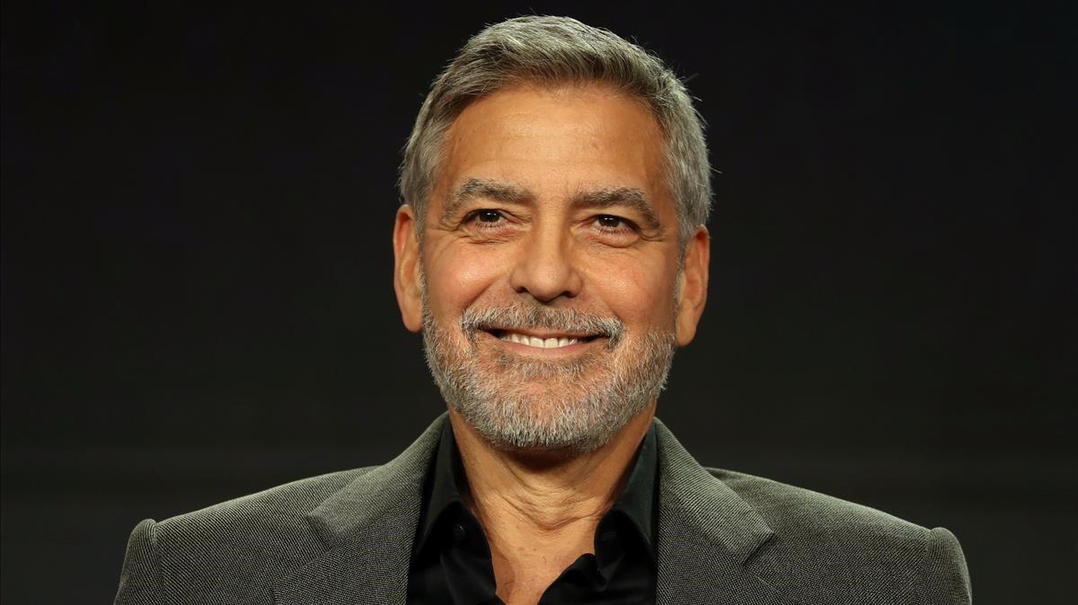 George Clooney, en la presentación de la serie de Hulu Catch-22, en Pasadena (California).
