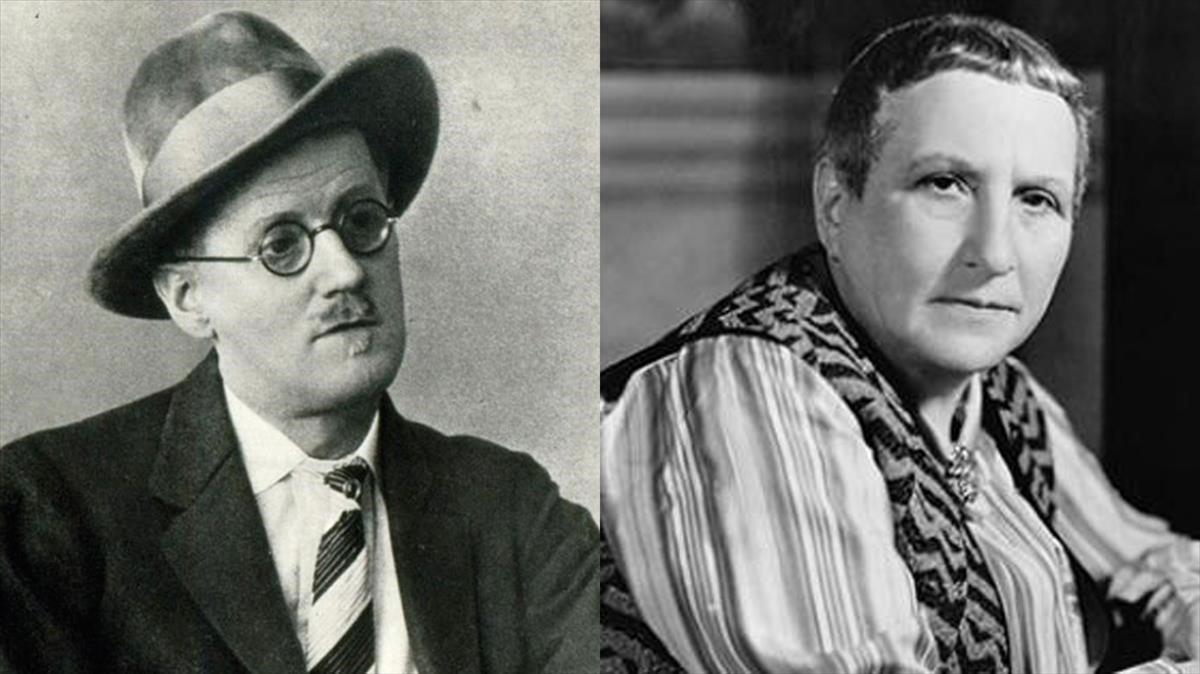 James Joyce y Gertrude Stein.