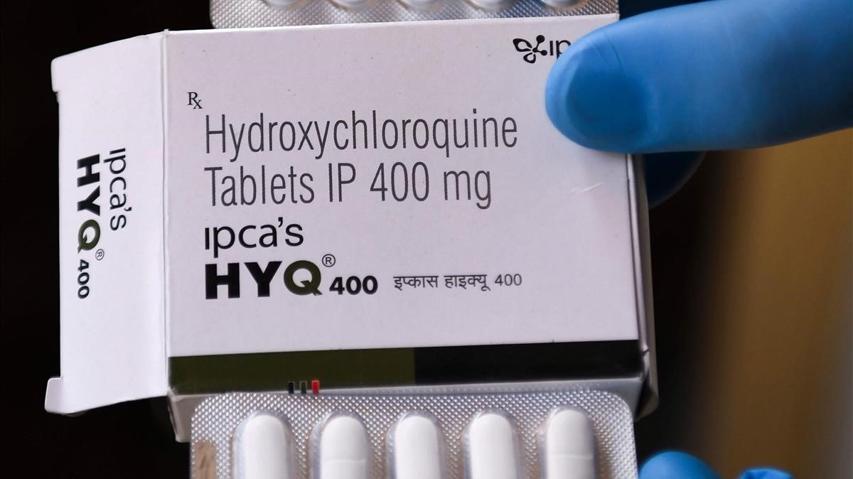 Una caja dehidroxicloroquina