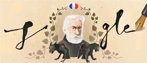 Victor Hugo, en el doodle de Google