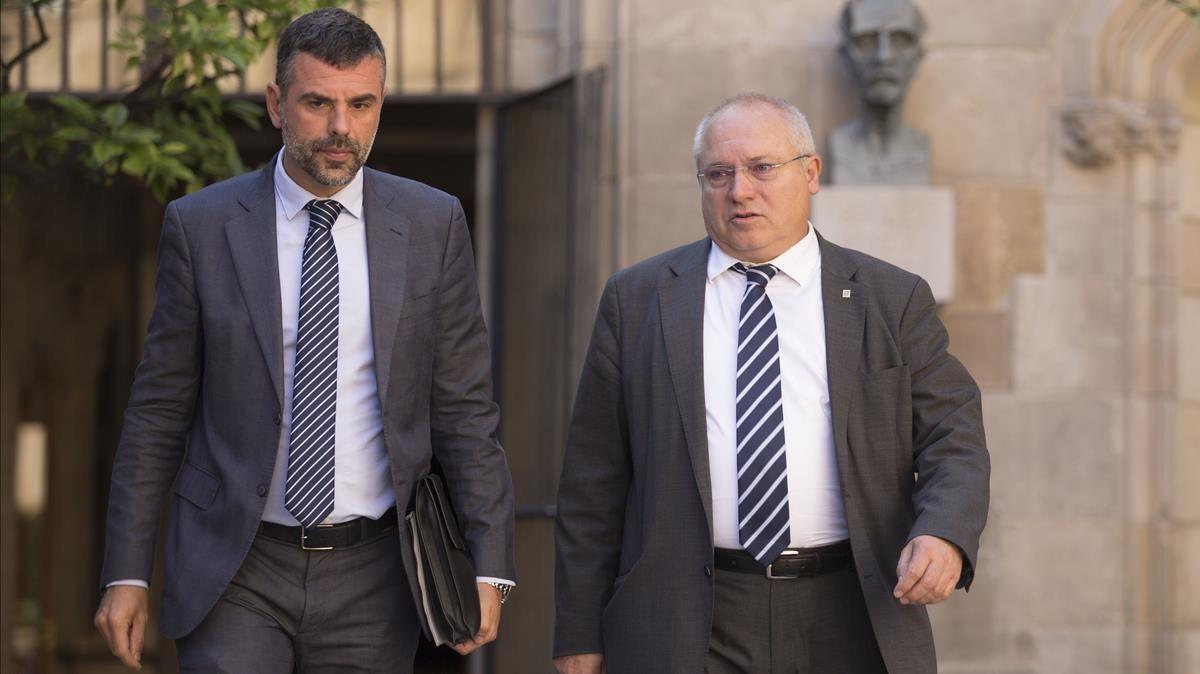 Los exconsellers Santi Vila y Lluís Puig.