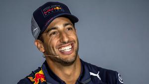 Daniel Ricciardo durante una rueda de prensa en el circuito de Ciudad de Bakú