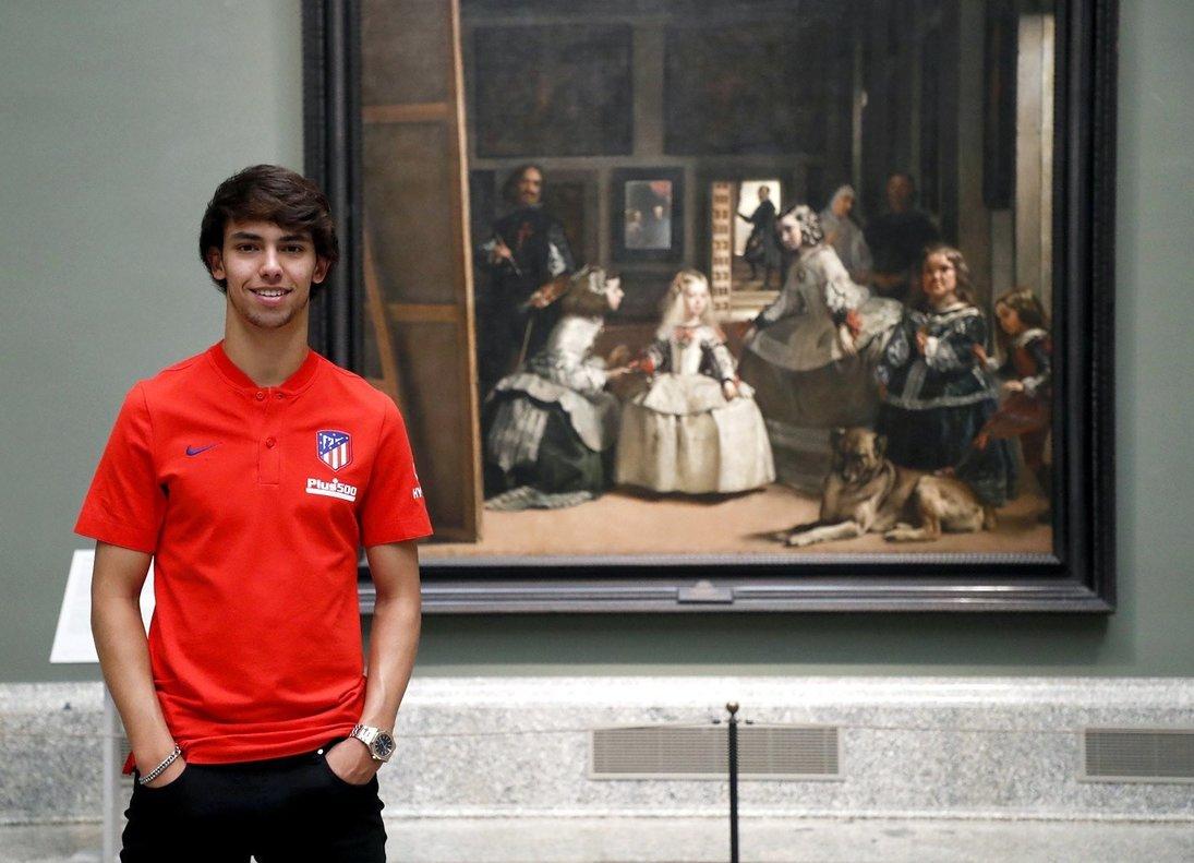 El portugués del Atlético João Félix en una visita al madrileño Museo del Prado.