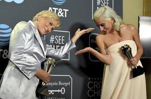 Lady Gaga ganó por A Star Is Borny Glenn Close por The Wife.