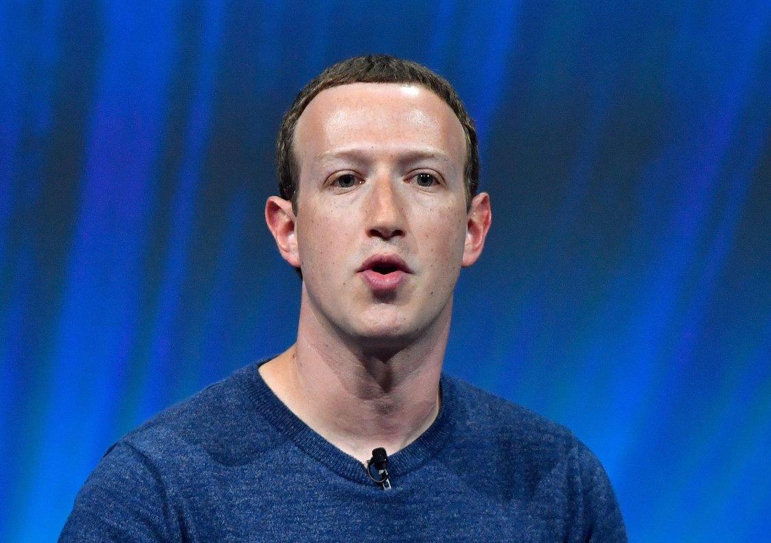 Facebook s CEO Mark Zuckerberg delivers his speech during the VivaTechViva Technologytrade fair in Paris.Photo by GERARD JULIENAFP