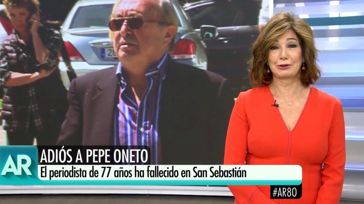 """Ana Rosa se despide de Pepe Oneto: """"Fue quien se atrevió a poner Extra Rosa"""""""